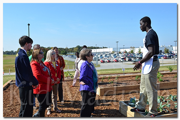 Pictured is student Elijah Harris talking about the taste of Liberty program. Picture courtesy of Taste of Liberty.