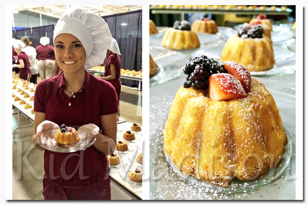 Katie Jones holding pound cake, which is one of the special desserts. Picture courtesy of Taste of Liberty.