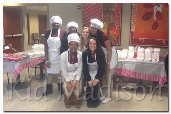 Taste of Liberty students pictured on the first row (l-r): Jada Lovett and Katie Jones. On the back row (l-r): Montreanna Whiteside, Chasity Brown, Haley Fitzgerald and Taylor Spencer. Picture courtesy of Taste of Liberty.